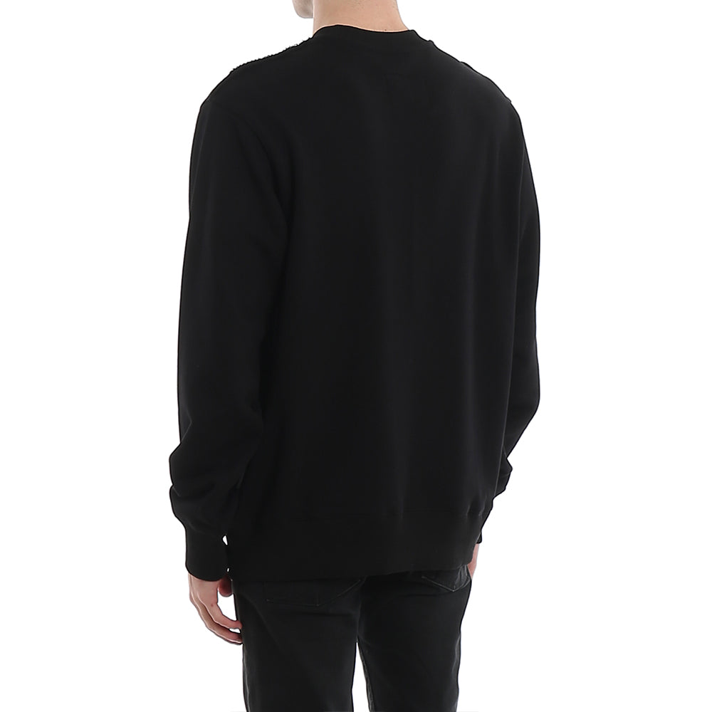 Load image into Gallery viewer, Versace Jeans Couture Men's Foil Label Logo Crewneck Sweater Black