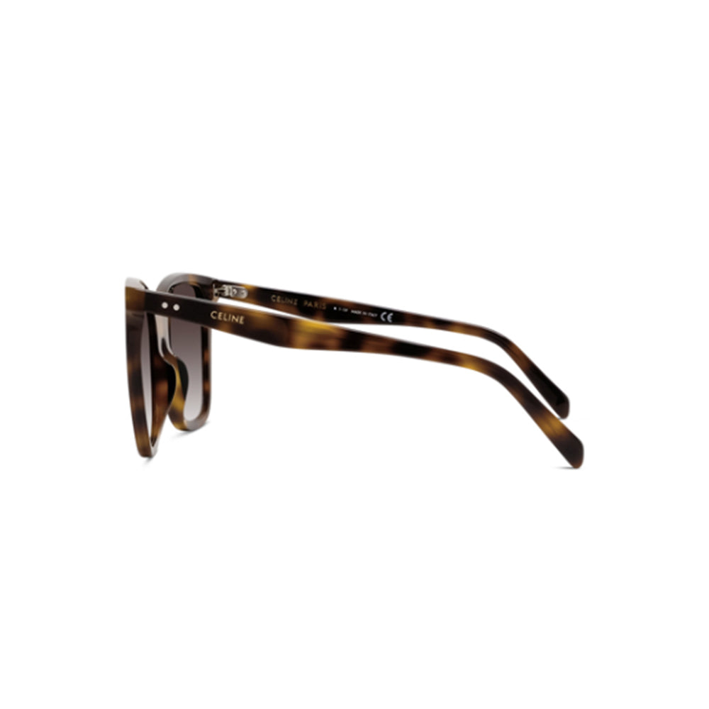 Load image into Gallery viewer, Celine Women's Square Asian Fit CL40134F Sunglasses Shiny Havana