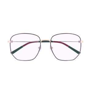 Load image into Gallery viewer, Gucci GG Logo Women's Octagonal Eyeglasses Gold