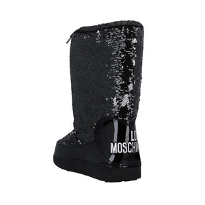 Load image into Gallery viewer, Love Moschino Women's Sequin Snow Boots Black