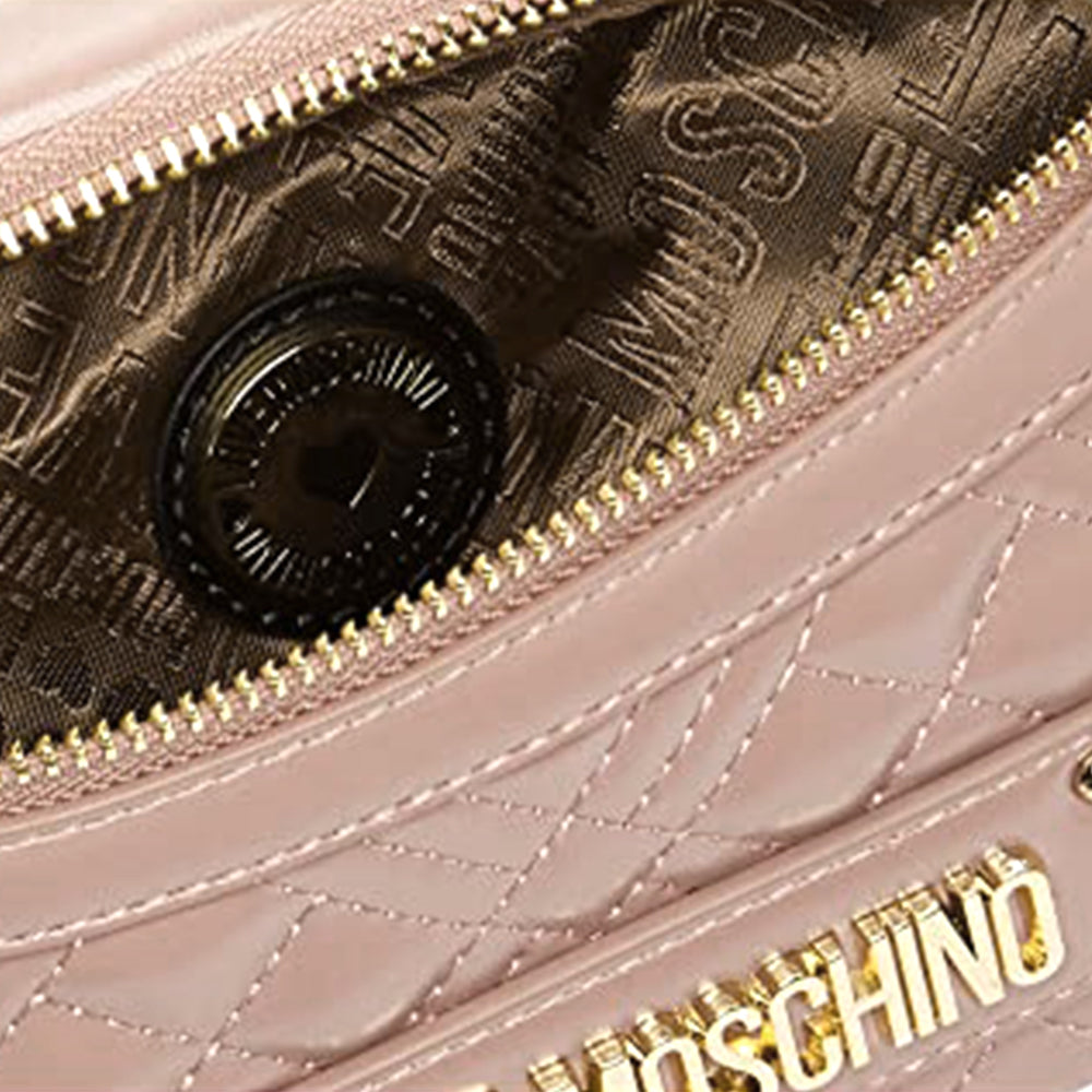 Load image into Gallery viewer, Love Moschino Quilted Faux Leather Waist Bag Pink