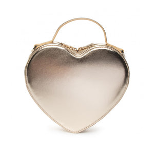 Load image into Gallery viewer, Love Moschino Small Faux Leather Heart Handbag Metallic Gold