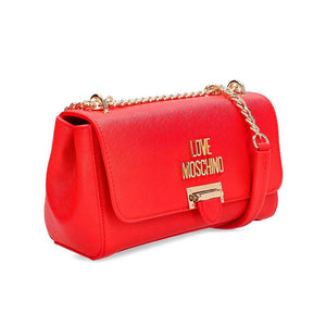 Load image into Gallery viewer, Love Moschino Logo Plaque Crossbody Handbag Red