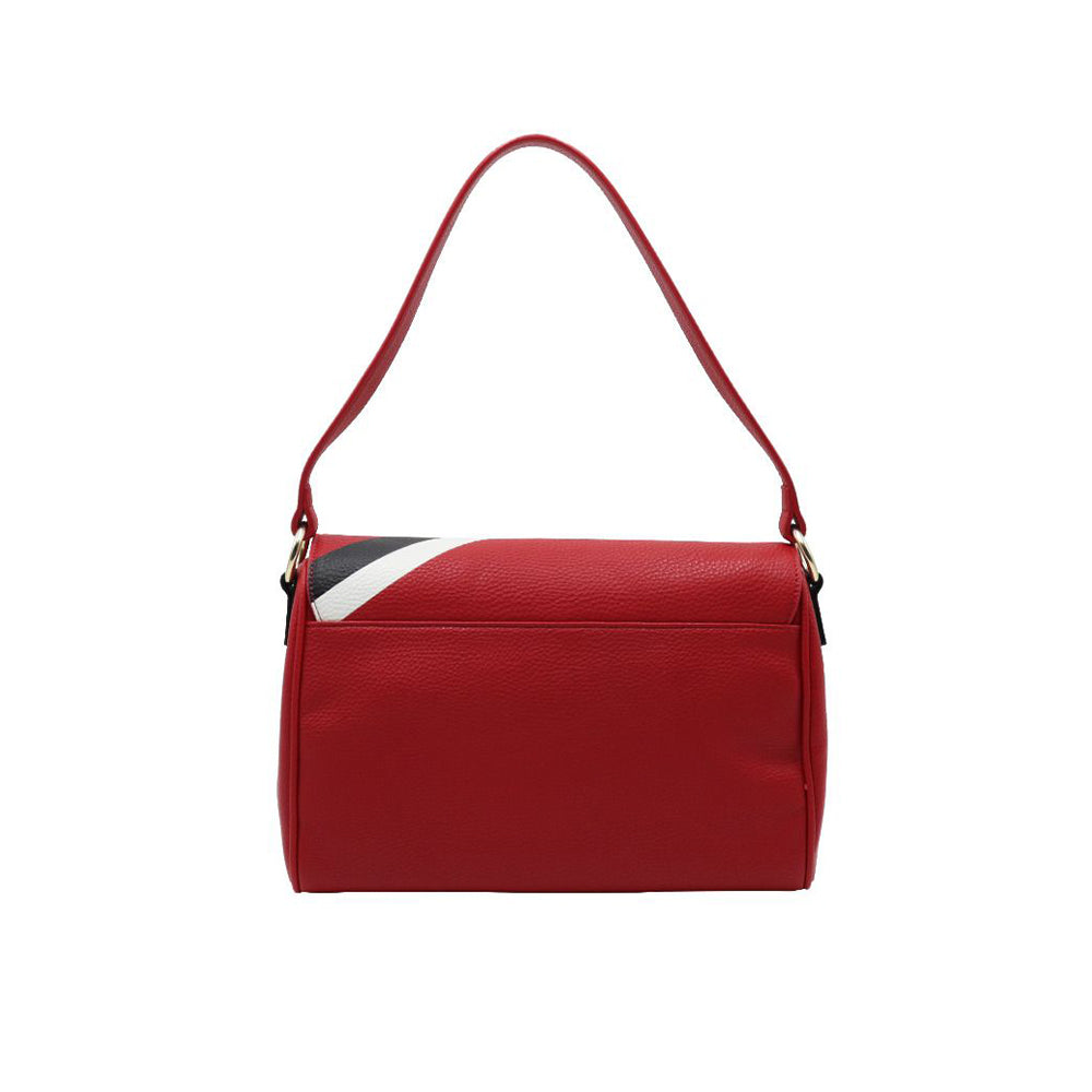 Load image into Gallery viewer, Love Moschino Faux Leather Sport Logo Handbag Red