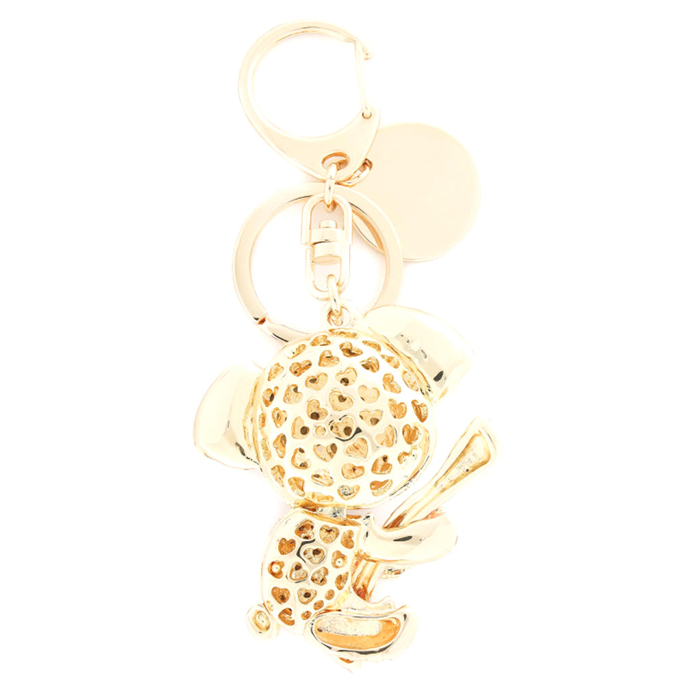 Load image into Gallery viewer, Love Moschino Crystal-embellished Koala Bear Charm Key Chain Pink