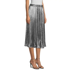 Load image into Gallery viewer, MICHAEL Michael Kors Foil Pleated Skirt