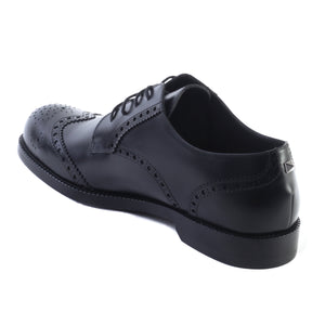 Load image into Gallery viewer, VALENTINO Men's Leather Brogue Oxford Dress Shoes Black
