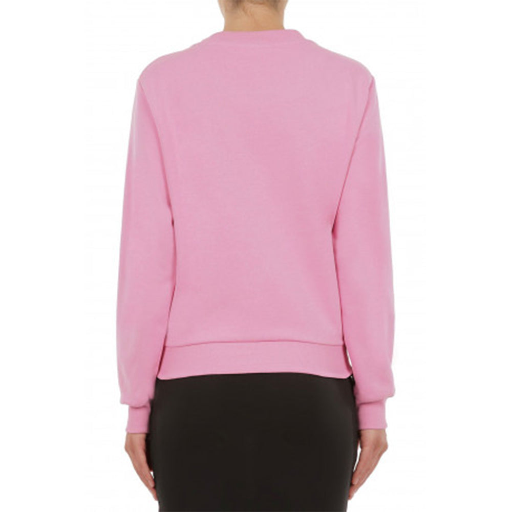Load image into Gallery viewer, Moschino Women's Couture Studded Logo Sweatshirt Pink