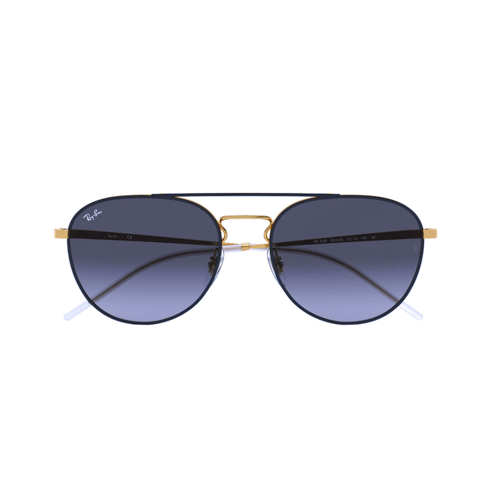 Load image into Gallery viewer, Ray-Ban Phantos RB3589 Metal Sunglasses Top Gold on Black
