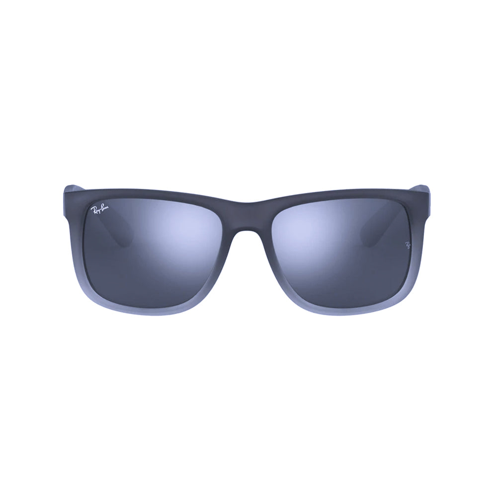 Load image into Gallery viewer, Ray-Ban Rectangular RB4165 Justin Sunglasses Grey Rubber/Tra