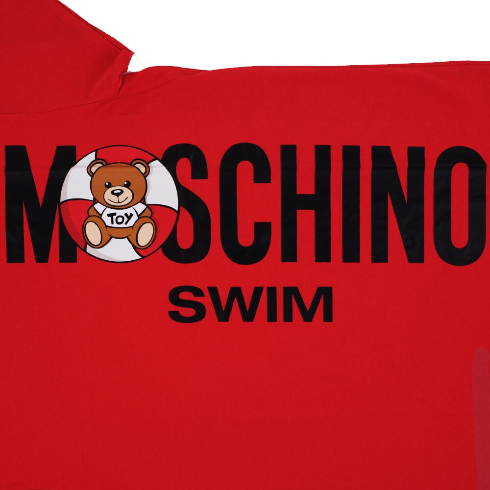 Load image into Gallery viewer, Moschino Women's Cotton Teddy Bear T-Shirt Dress - Red