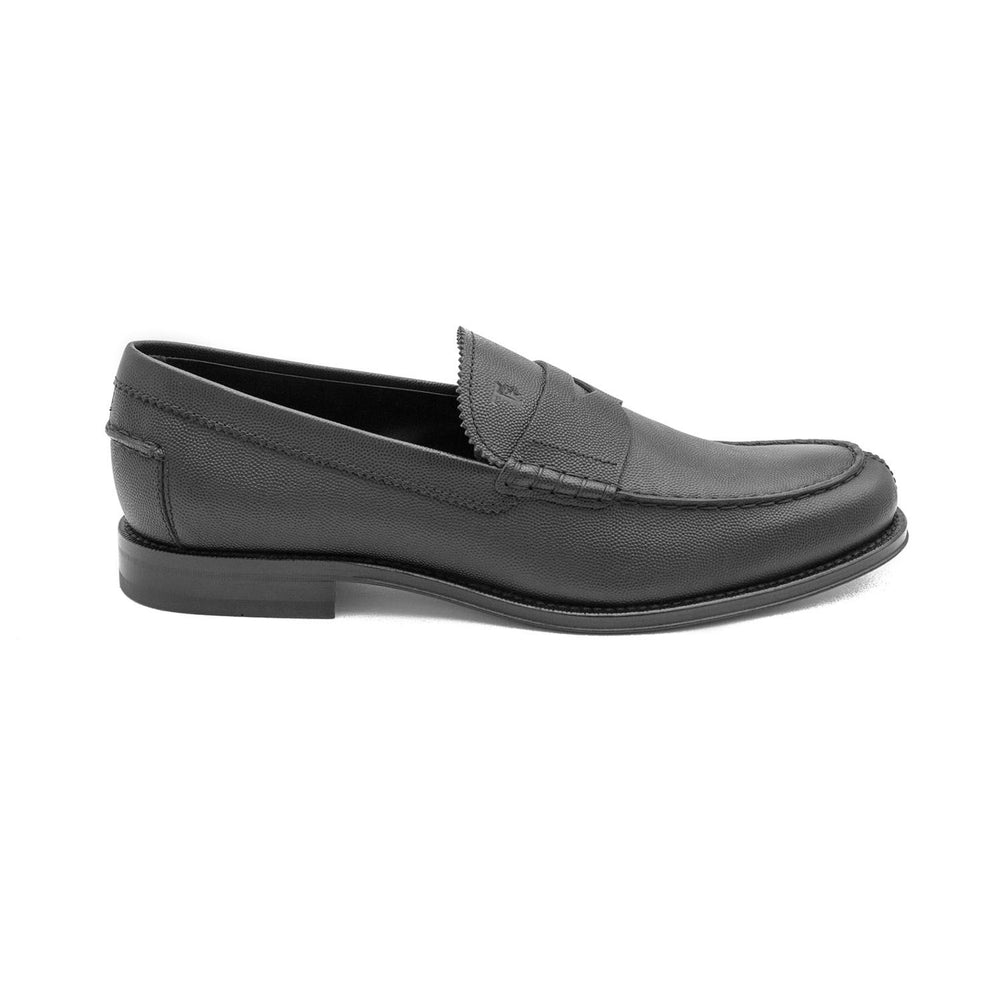 Load image into Gallery viewer, TOD'S Men's Pebbled Leather Penny Loafer Shoes Black