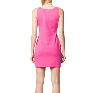 Load image into Gallery viewer, Moschino Couture Women's Cotton-Blend Sleeveless Mini Dress Pink