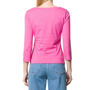Load image into Gallery viewer, Moschino Couture Women's Long Sleeve Teddy Bear Patch Shirt Pink