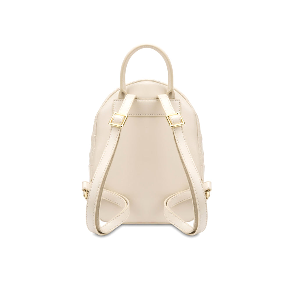 Load image into Gallery viewer, Love Moschino Faux Leather Small Quilted Backpack Cream