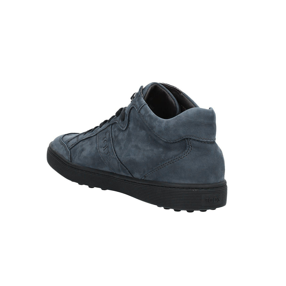 Load image into Gallery viewer, Tod's Women's Leather Suede Low Top Sneakers Dark Petrol