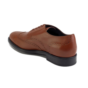 Load image into Gallery viewer, TOD'S Men's Leather Derby Brogue Oxford Dress Shoes Light Brown