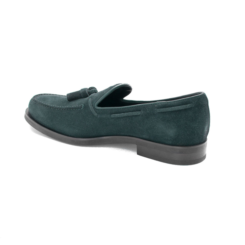 Load image into Gallery viewer, TOD'S Men's Suede Loafer Shoes Dark Teal