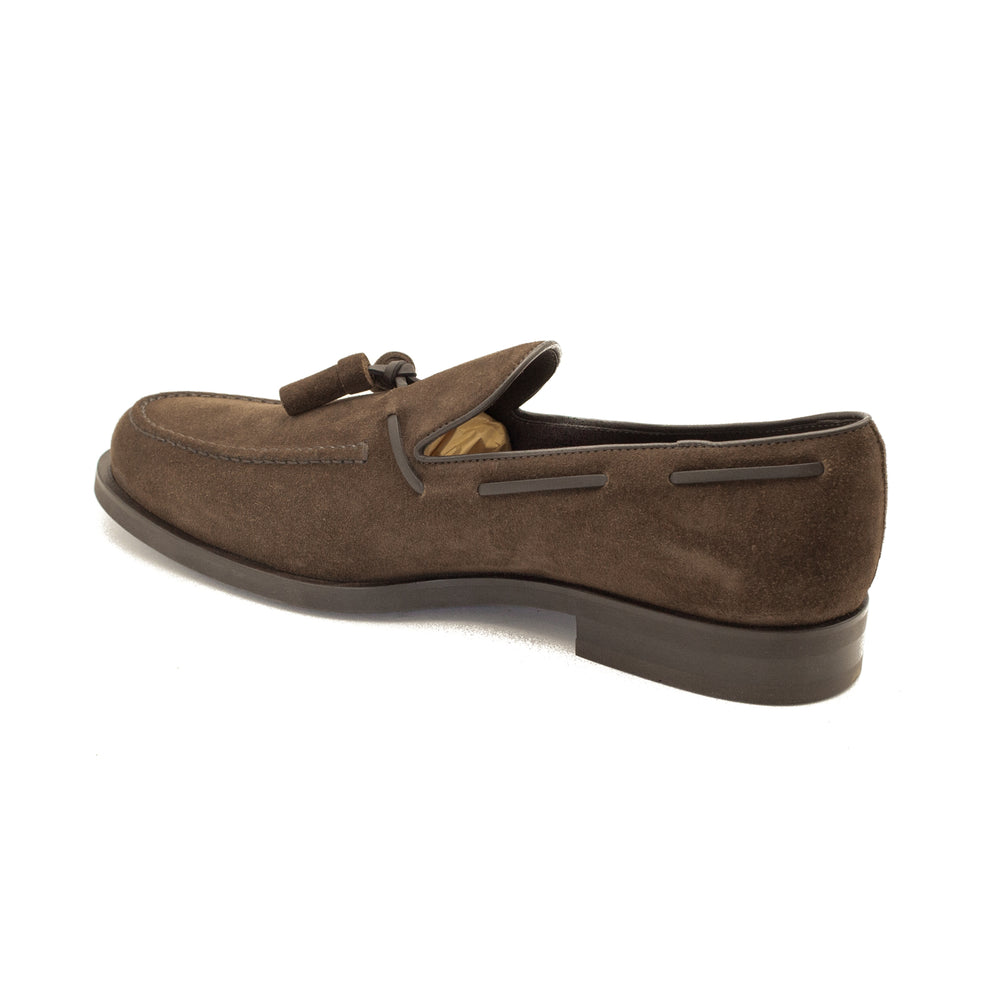 Load image into Gallery viewer, TOD'S Men's Suede Loafer Shoes Brown