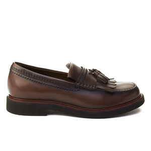 Load image into Gallery viewer, TOD'S Men's Leather Tassle Loafer Shoes Brown