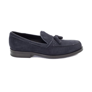 Load image into Gallery viewer, TOD'S Men's Suede Loafer Shoes Navy Blue