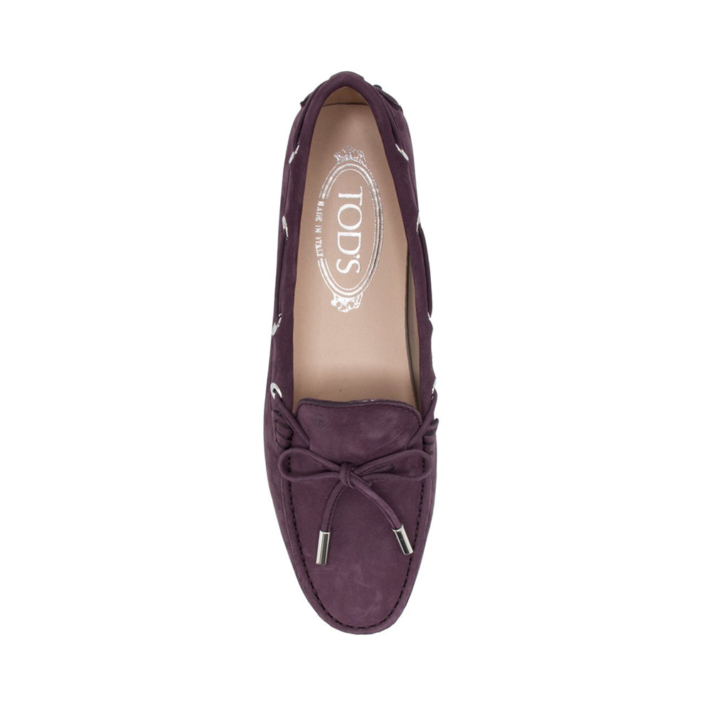 Load image into Gallery viewer, Tod's Women's Leather City Suede Loafers Violet Purple