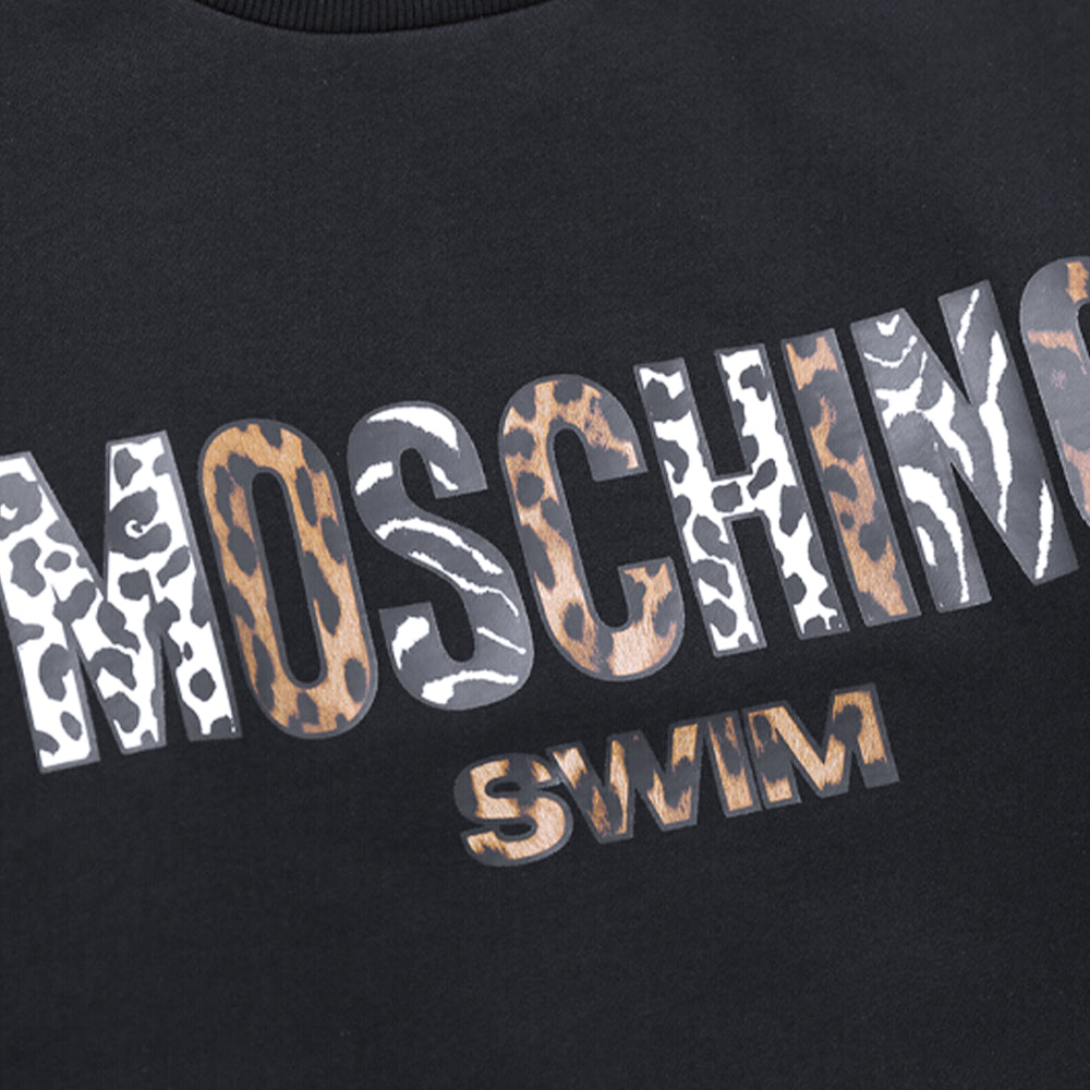Load image into Gallery viewer, Moschino Leopard Print Logo Sweatshirt - Black