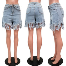 Load image into Gallery viewer, Casual Denim High Waist Shorts