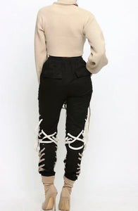 """Entangled"" Lace Up Joggers"