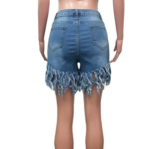 Casual Denim High Waist Shorts