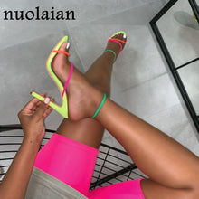 Load image into Gallery viewer, Women Cross-Tied Ankle Strap High Heels