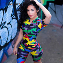 Load image into Gallery viewer, Women's Camo Bodysuit Romper