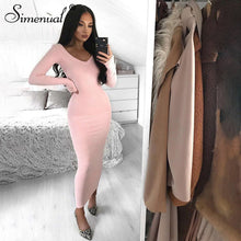 Load image into Gallery viewer, Sexy Long Sleeve Off Shoulder Maxi Bodycon Dress