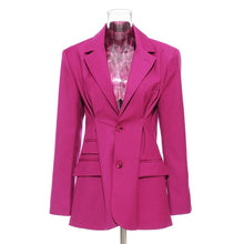 Load image into Gallery viewer, Long Sleeve Ruched Women's Blazer