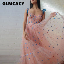 Load image into Gallery viewer, Women Star Applique Mesh Dress