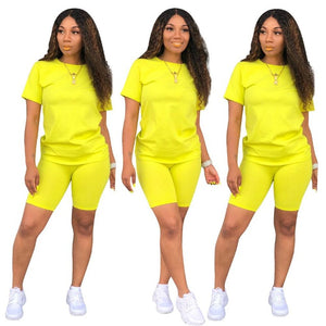 Women's 2 piece Tshirt & short sets
