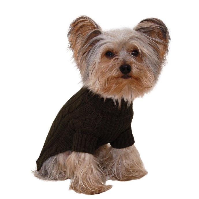 Olive Green Turtleneck Dog Sweater