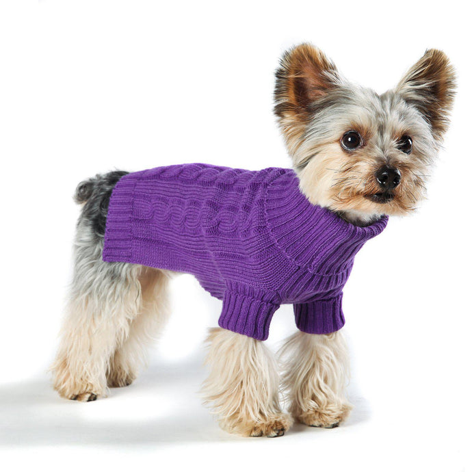 Violet Turtleneck Dog Sweater