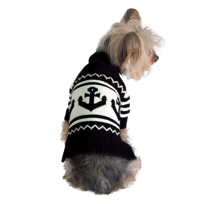 Anchor Dog Sweater Navy Blue