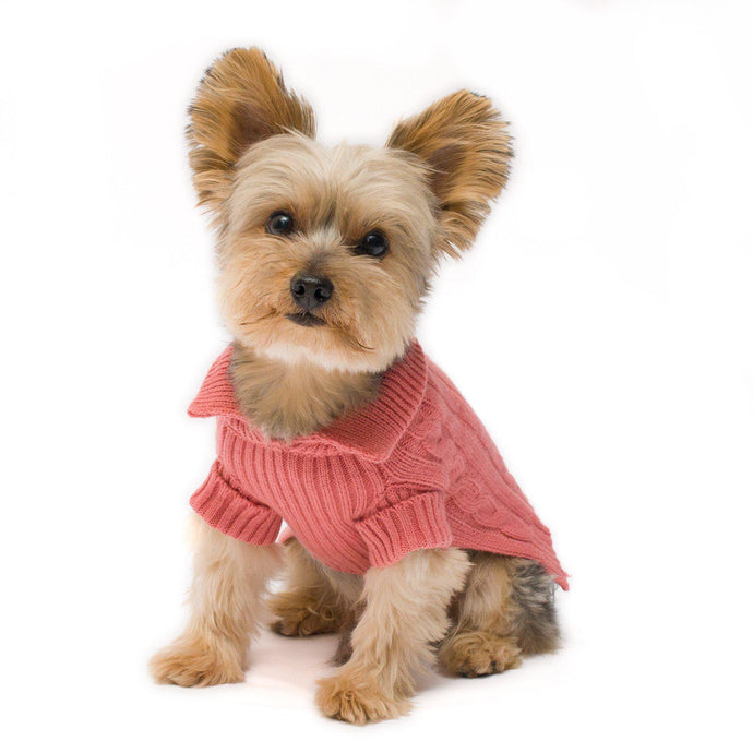 Millennium Pink Aran Dog Sweater