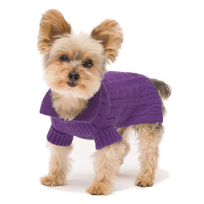 Violet Aran Dog Sweater