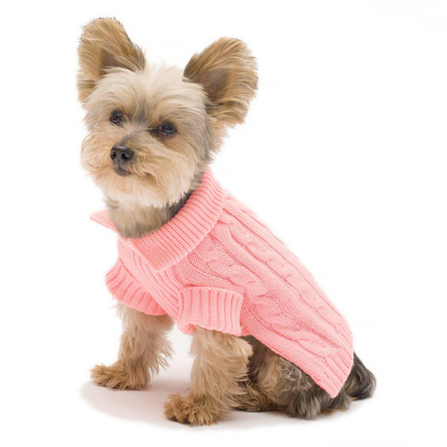Pink Aran Dog Sweater