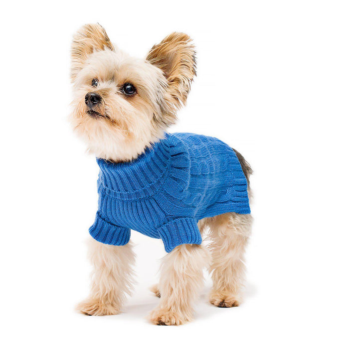 Royal Blue Turtleneck Dog Sweater
