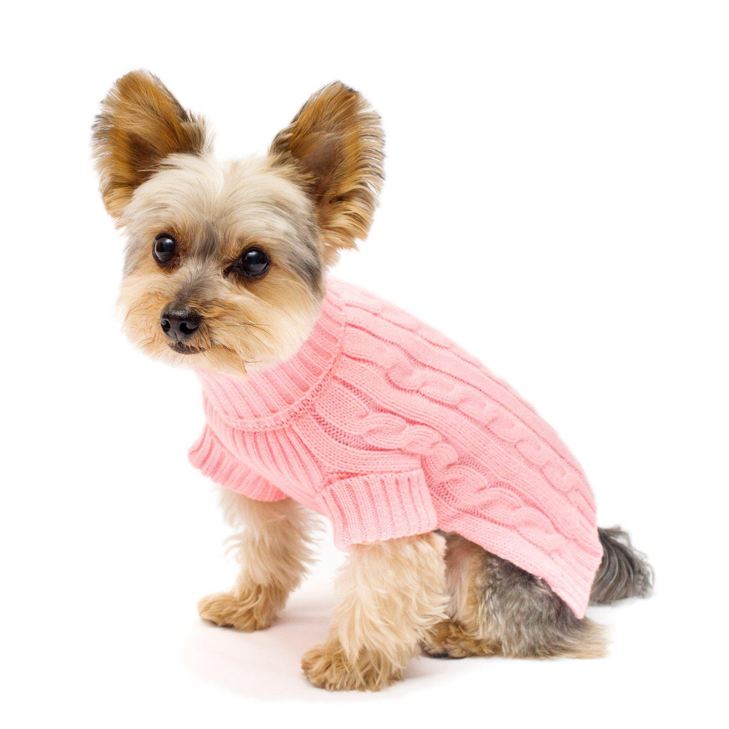 Pink Turtleneck Dog Sweater