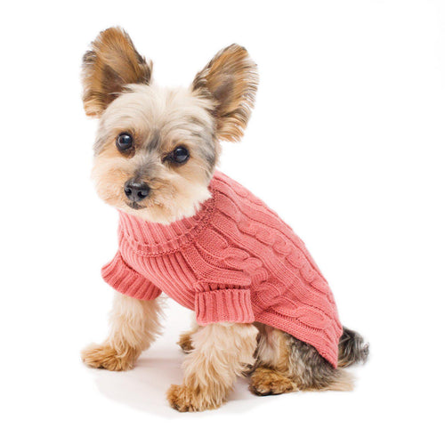 Millennium Pink Turtleneck Dog Sweater