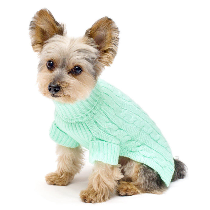 Mint Turtleneck Dog Sweater