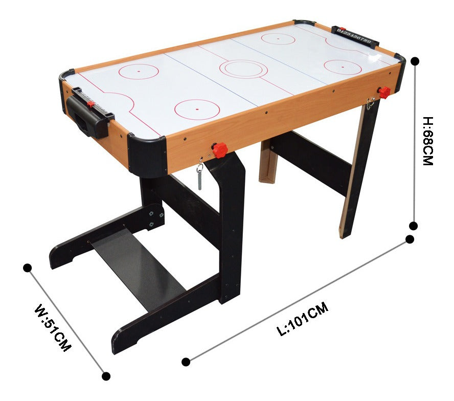 Mesa De Air Hockey Plegable Mediana - Juego De Mesa De Aire