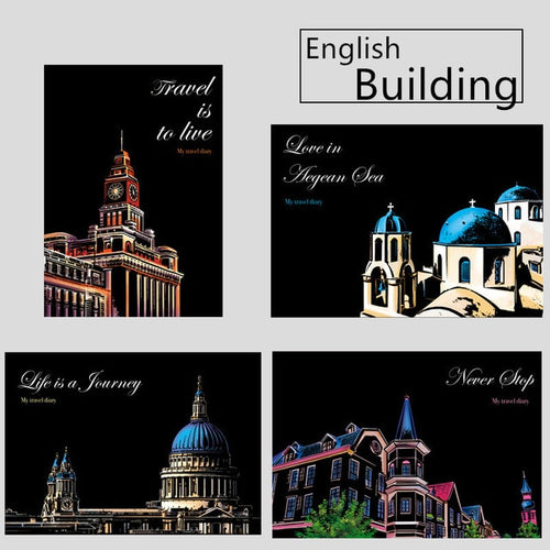 English Building (4 pieces) - Magiczna Zdrapka
