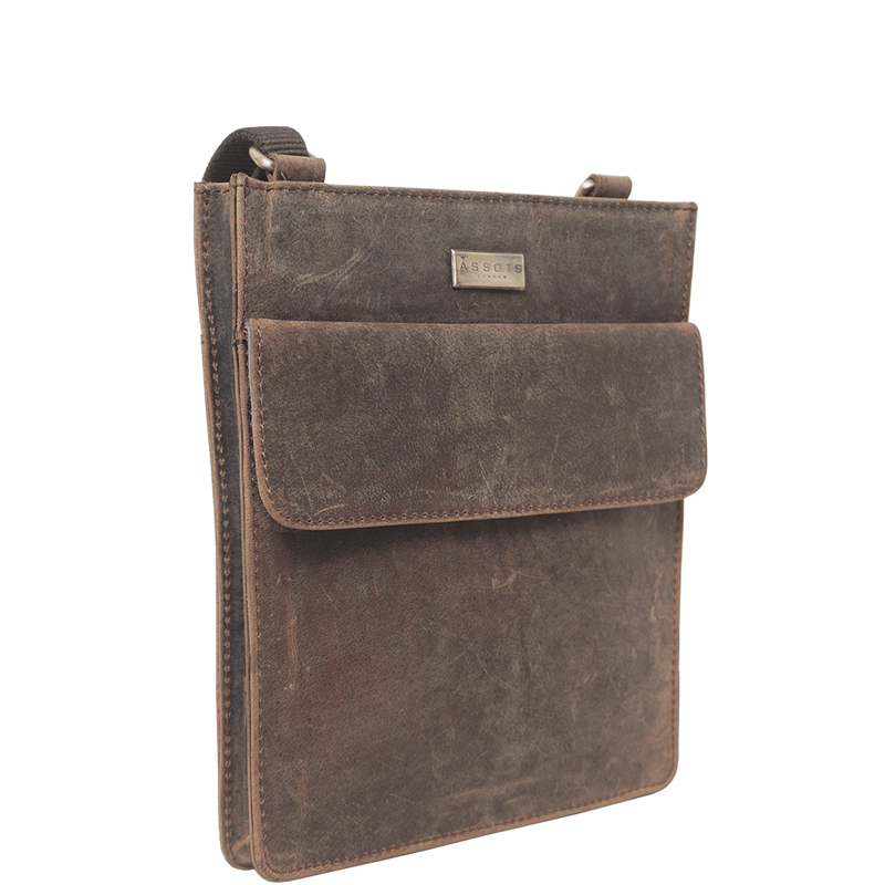 'BRYN' Brown Leather Cross Body Bag