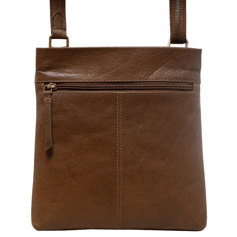 'FLORENCE' Tan Full Grain Soft Nappa Leather Crossbody Sling Bag
